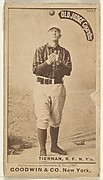 """Michael """"Silent Mike"""" Joseph Tiernan, Right Field, New York, from the Old Judge series (N172) for Old Judge Cigarettes"""