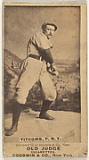 "Ledell ""Cannonball"" Titcomb, Pitcher, New York, from the Old Judge series (N172) for Old Judge Cigarettes"