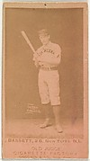 Bassett, 2nd Base, New York, from the Old Judge series (N172) for Old Judge Cigarettes