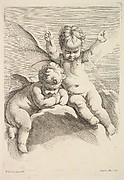 Two Cupids, One with Bat Wings