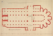 Groundplan of the Church of Saint John in 's-Hertogenbosch