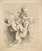 Three Cupids Playing with Vine Branches