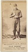 "Edward James ""Big Ed"" Delahanty, 2nd Base, Philadelphia, from the Old Judge series (N172) for Old Judge Cigarettes"