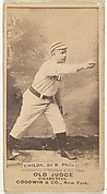 "Clarence Algernon ""Cupid"" Childs, 2nd Base, Philadelphia, from the Old Judge series (N172) for Old Judge Cigarettes"