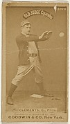 """John J. """"Jack"""" Clements, Catcher, Philadelphia, from the Old Judge series (N172) for Old Judge Cigarettes"""