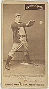 "John J. ""Jack"" Clements, Catcher, Philadelphia, from the Old Judge series (N172) for Old Judge Cigarettes"