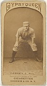 "John J. ""Jack"" Clements, Catcher, Philadelphia, from the Old Judge series (N172) for Old Judge and Gypsy Queen Cigarettes"