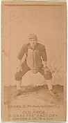 "Lafayette ""Lave"" Napoleon Cross, Catcher, Philadelphia, from the Old Judge series (N172) for Old Judge Cigarettes"