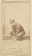 "William J. ""Kid"" Gleason, Pitcher, Philadelphia, from the Old Judge series (N172) for Old Judge Cigarettes"