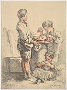 Three Boys with Pancakes