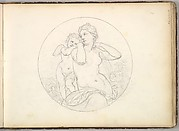 Venus and Cupid  (in Sketch Book With Drawings on Twenty-six Leaves)