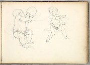Two Children (in Sketch Book With Drawings on Twenty-six Leaves)