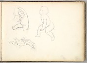 Three Children  (in Sketch Book With Drawings on Twenty-six Leaves)