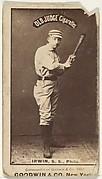 "Arthur Albert ""Doc"" Irwin, Shortstop, Philadelphia, from the Old Judge series (N172) for Old Judge Cigarettes"