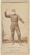 "William Frederick ""Pop"" Schriver, Catcher, Philadelphia, from the Old Judge series (N172) for Old Judge Cigarettes"