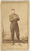 """William Frederick """"Pop"""" Schriver, Catcher, Philadelphia, from the Old Judge series (N172) for Old Judge Cigarettes"""