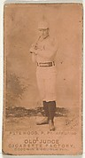 "Peter Burke ""Pete"" Wood, Pitcher, Philadelphia, from the Old Judge series (N172) for Old Judge Cigarettes"