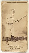 """Clarence Algernon """"Cupid"""" Childs, 2nd Base, Philadelphia, from the Old Judge series (N172) for Old Judge Cigarettes"""