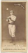 "Thomas Francis Michael ""Tommy"" McCarthy, 2nd Base, Philadelphia, from the Old Judge series (N172) for Old Judge Cigarettes"