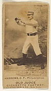 """George Edward """"Ed"""" Andrews, Center Field, Philadelphia, from the Old Judge series (N172) for Old Judge Cigarettes"""