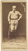 "Thomas ""Tom"" Tarlton Brown, Center Field, Pittsburgh, from the Old Judge series (N172) for Old Judge Cigarettes"