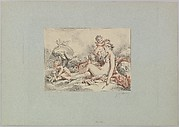 Woman Seated Holding an Arrow and Four Putti (Venus Holiding Cupid's Arrow with a Quiver by Her Side)