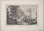 Wood Engraving of a Tapestry of Bacchus and Ariadne, from Amours des Dieux (Loves of the Gods)