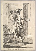 Reverse copy of Chaudronier Chaudronier (Boilermaker Boilermaker), from Le Cris de Paris (The Cries of Paris), plate 2