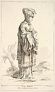 Dona Mitilena, from Recueil de diverses fig.res étrangeres Inventées par F. Boucher P.tre du Roy et Gravées par F. Ravenet (Collection of Various Foreign Figures, Devised by F. Boucher, Painter of the King and Engraved [etched] by F. Ravenet), plate 3