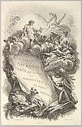 """Frontispice pour le """"Tombeau de Charles Sackville, comte de Dorset"""" (Frontispiece for the """"Tomb of Charles Sackville, Earl of Dorset"""", from Tombeaux des Princes, des Grands Capitaines et autres Hommes illustres (Tombs of Princes, Great Captains, and other Illustrious Men)"""