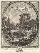 Paysage au Pont et au Pigeonnier (Landscape with a Bridge and a Dovecote)