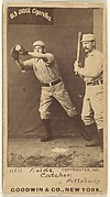 "John Joseph ""Jocko"" Fields, Catcher, Pittsburgh, from the Old Judge series (N172) for Old Judge Cigarettes"