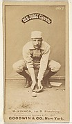 Alex McKinnon, 1st Base, Pittsburgh, from the Old Judge series (N172) for Old Judge Cigarettes