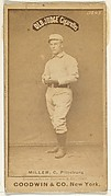 "George Frederick ""Doggie"" Miller, Catcher, Pittsburgh, from the Old Judge series (N172) for Old Judge Cigarettes"