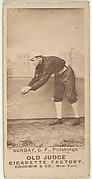 "William Ashley ""Billy"" Sunday, Center Field, Pittsburgh, from the Old Judge series (N172) for Old Judge Cigarettes"