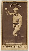 """Frederick Herbert """"Fred"""" Carroll, Catcher, Pittsburgh, from the Old Judge series (N172) for Old Judge Cigarettes"""