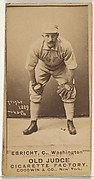 "Hiram ""Hi"" C. Ebright, Catcher, Washington Nationals, from the Old Judge series (N172) for Old Judge Cigarettes"
