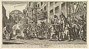 Burning the Rumps at Temple Bar (Twelve Large Illustrations for Samuel Butler's Hudibras, Plate 11)