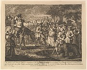 Hudibras' First Adventure (Twelve Large Illustrations for Samuel Butler's Hudibras, Plate 3)