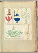 Designs for Two Ewers, Two Bottle-shaped Vases and a Covered Tureen