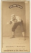 """Andrew Bernard """"Barney"""" Gilligan, Catcher, Washington Nationals, from the Old Judge series (N172) for Old Judge Cigarettes"""
