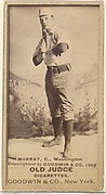 """Jeremiah J. """"Miah"""" Murray, Catcher, Washington Nationals, from the Old Judge series (N172) for Old Judge Cigarettes"""
