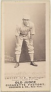 """Peter Jay """"Pete"""" Sweeney, 3rd Base, Washington Nationals, from the Old Judge series (N172) for Old Judge Cigarettes"""