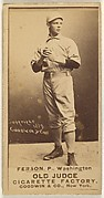 "Alexander ""Colonel"" Ferson, Pitcher, Washington Nationals, from the Old Judge series (N172) for Old Judge Cigarettes"