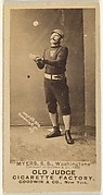 """James Albert """"Al"""" Myers, Shortstop, Washington Nationals, from the Old Judge series (N172) for Old Judge Cigarettes"""