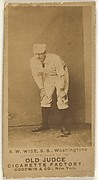 "Samuel Washington ""Sam"" Wise, Shortstop, Washington Nationals, from the Old Judge series (N172) for Old Judge Cigarettes"