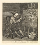 Hogarth Painting the Comic Muse or  William Hogarth - 1764
