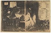 Program for L'Œuvre theater, February 1894 (Lisez la Revue Blanche / Une Nuit d'Avril à Ceos; L'Image)