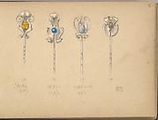Four Designs for Silver Stickpins