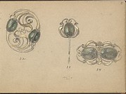 Three Designs for Jewelry with a Beetle Motif